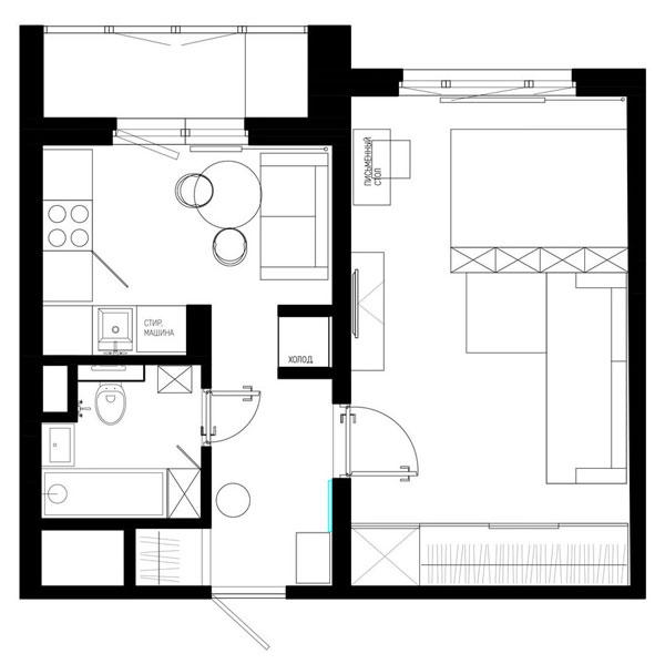 Варианты зонирования квартиры