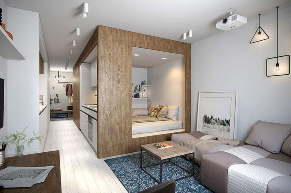 Зонирование 1-комнатной квартиры