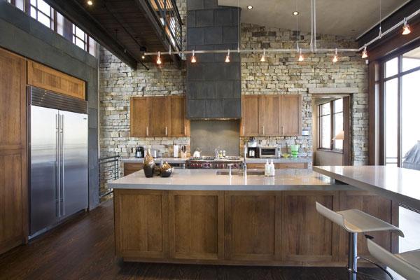 Лофт дизайн в интерьере кухни