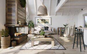 Интерьер дома в скандинавском стиле