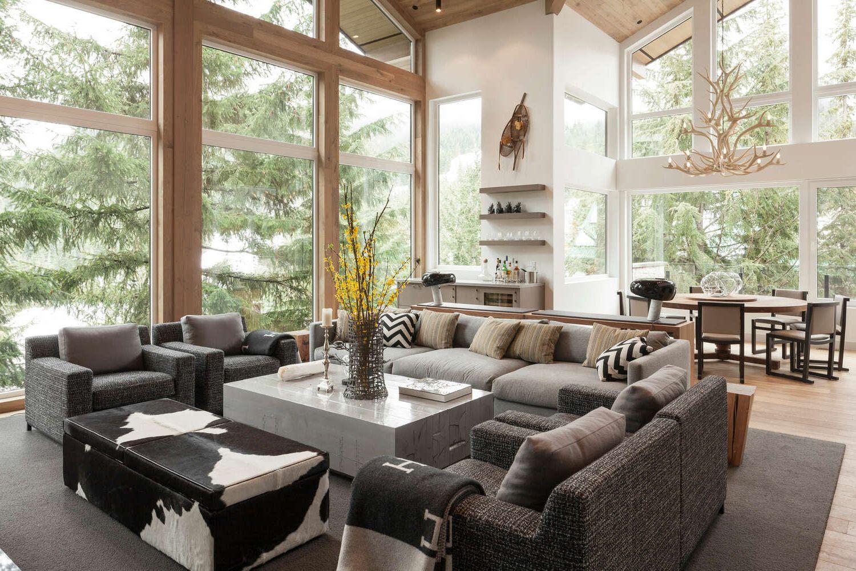 Эко дизайн гостиной