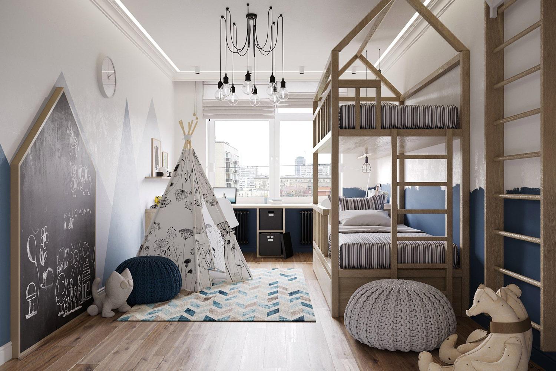 Скандинавский стиль в интерьере детской