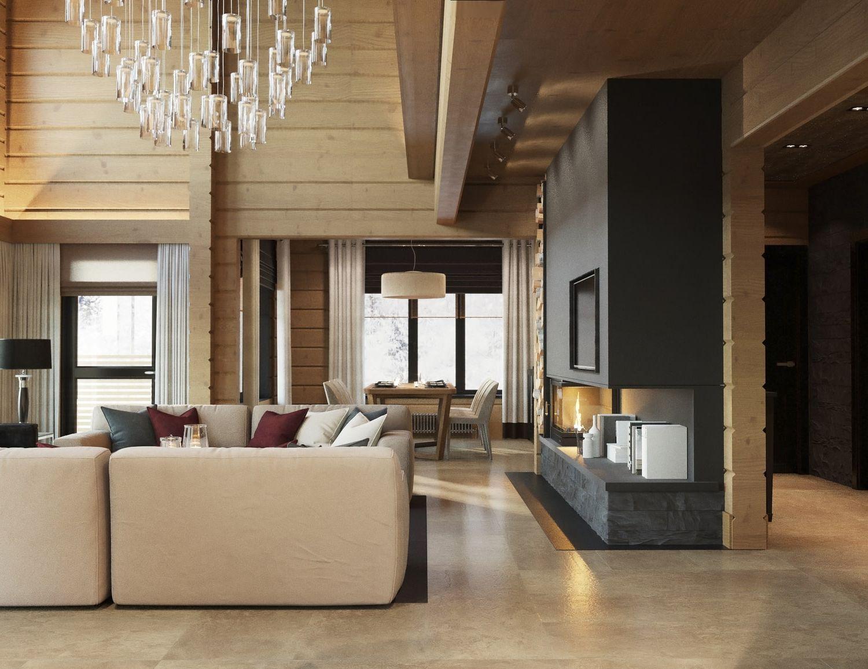 Интерьер частного дома в современном стиле