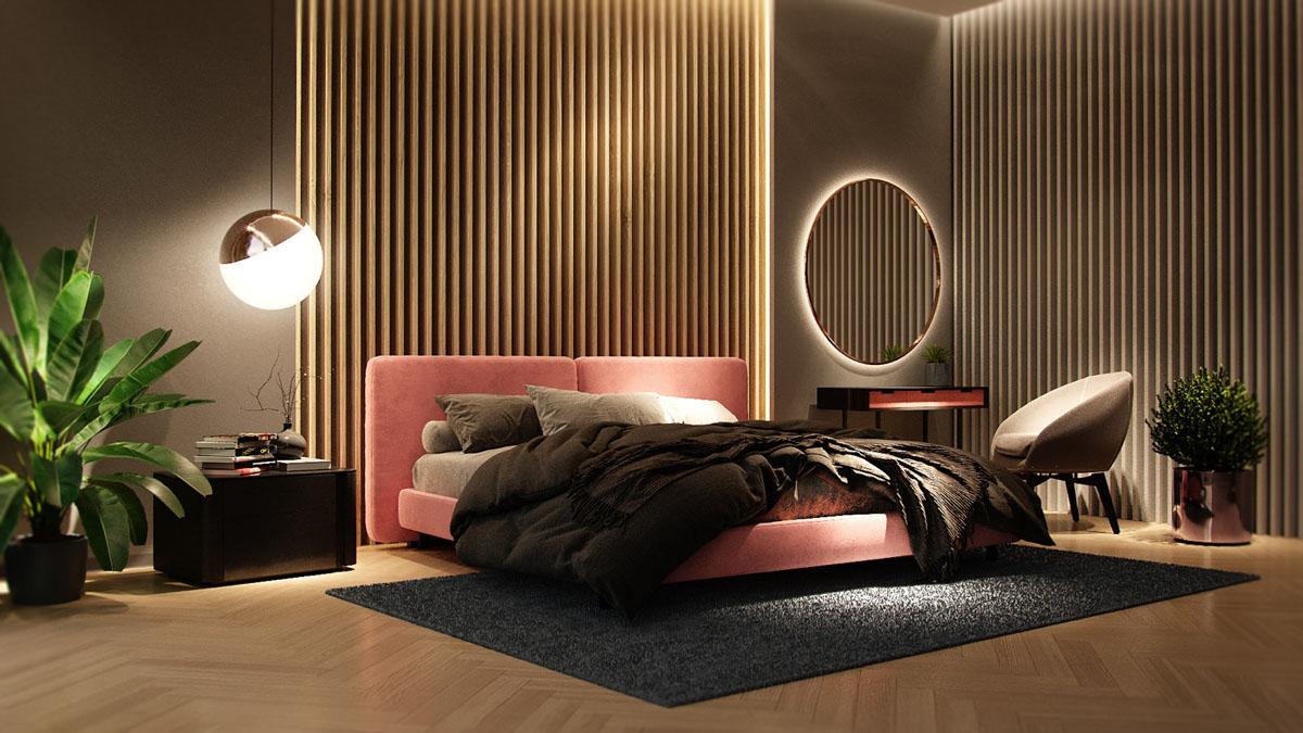 Деревянные рейки в дизайне квартир