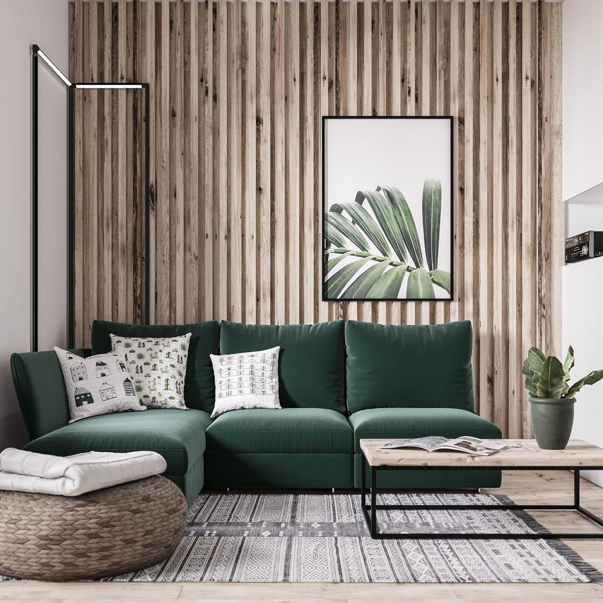 Деревянные рейки в дизайне интерьеров
