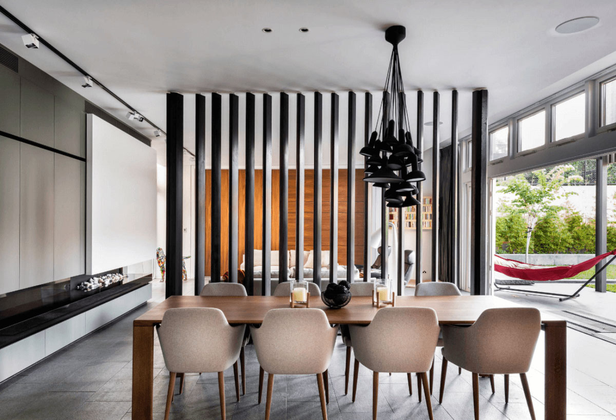 Деревянные рейки в интерьере дома
