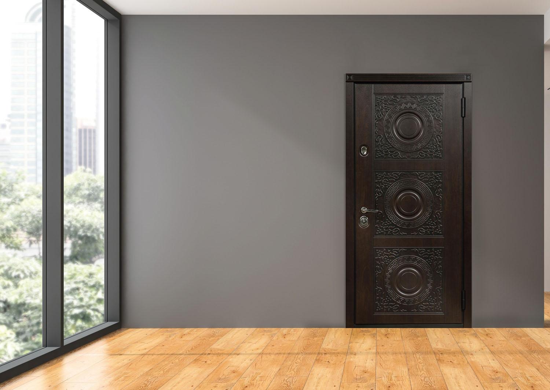 Дизайн входной двери изнутри