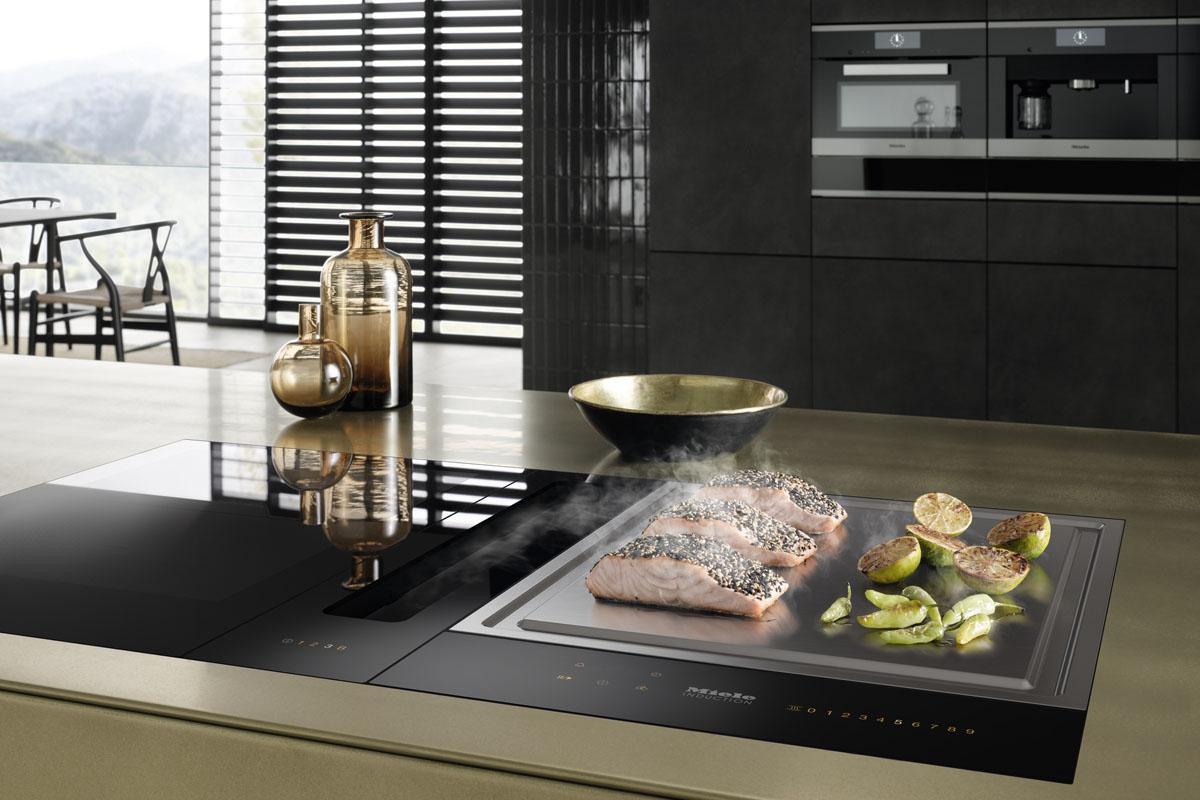 Дизайн кухни с вытяжкой