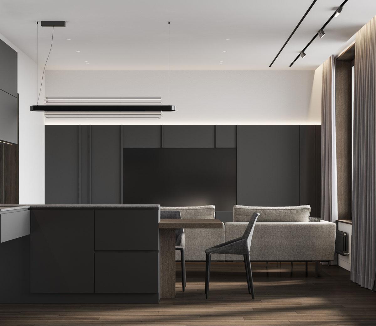 Минимализм в дизайне гостиной