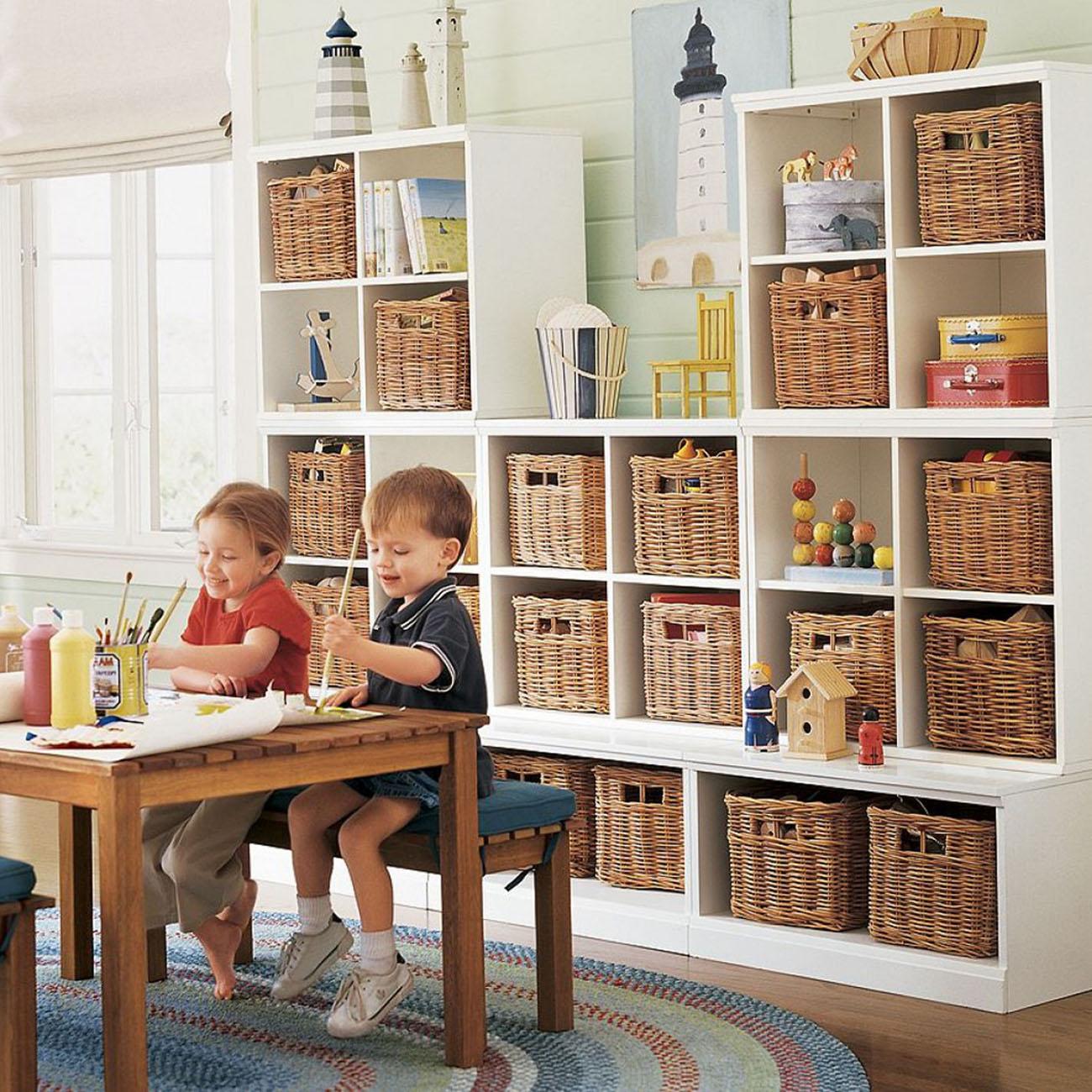 Хранение в детской комнате