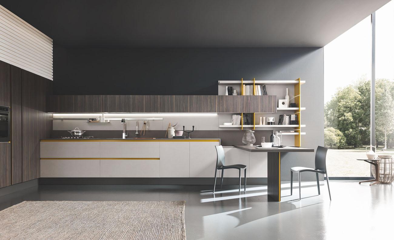 Стиль кухни без верхних шкафов