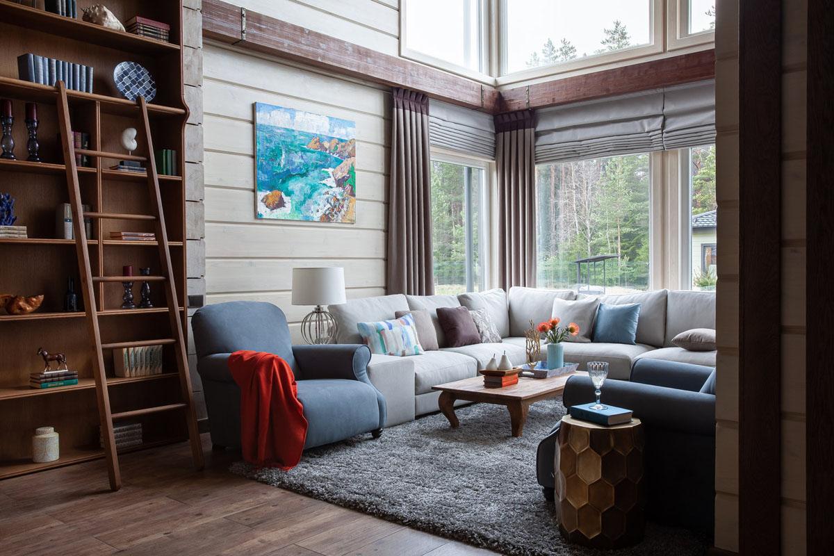 Дизайн брусового дома