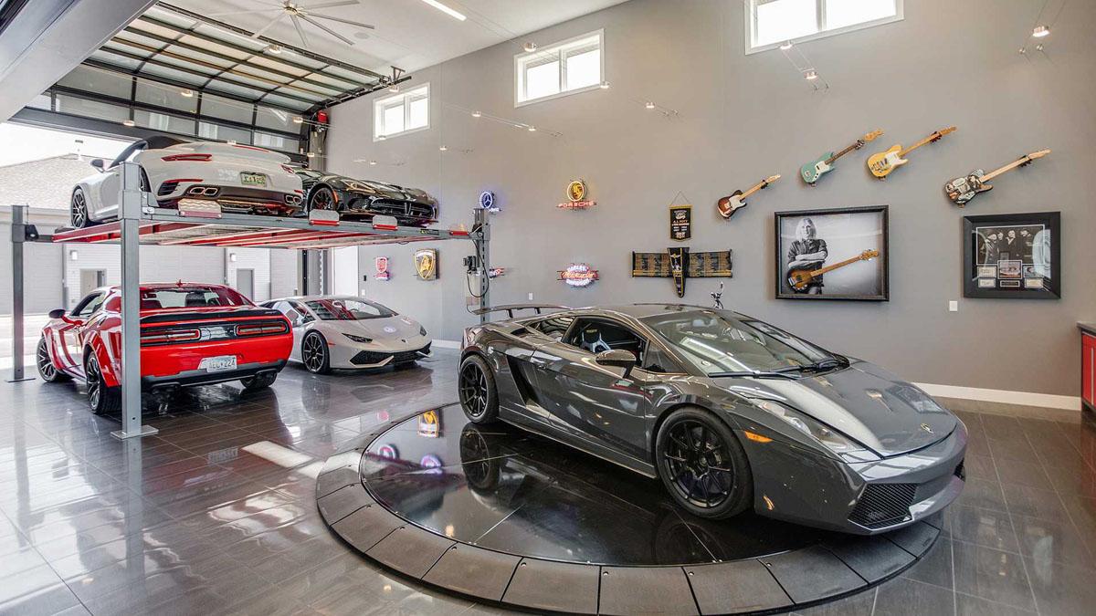 Дизайн гаража в доме