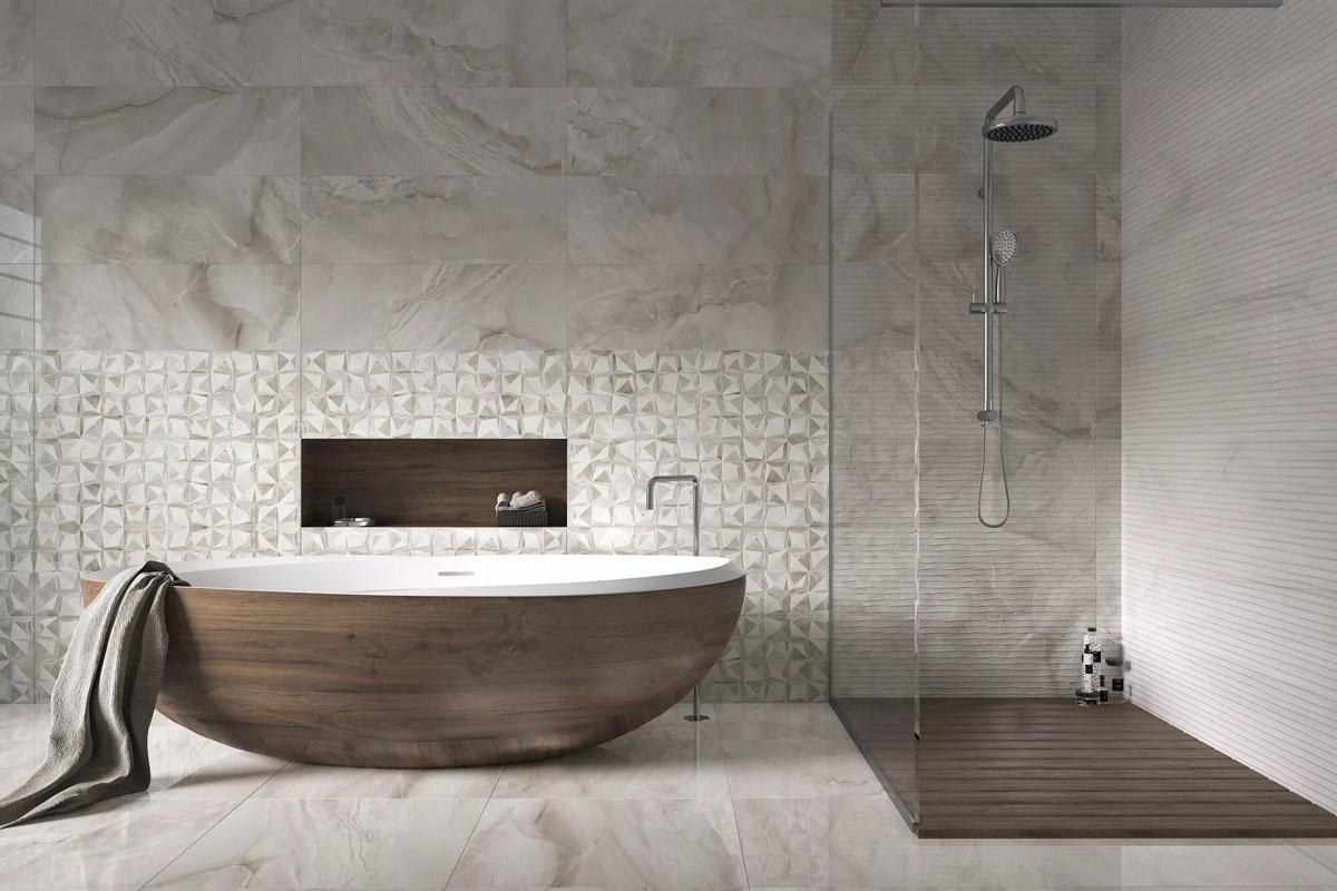 Ванная в серых цветах